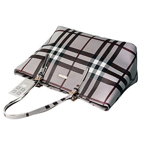 Large New Pu and Bag Grey Shoulder Traveling Tote Designer for Work Bag Women Fashion fdw6IRtfq