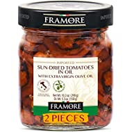 FRAMORE, Sun-dried tomatoes in oil 10.2 Oz (2X)- Imported from Italy