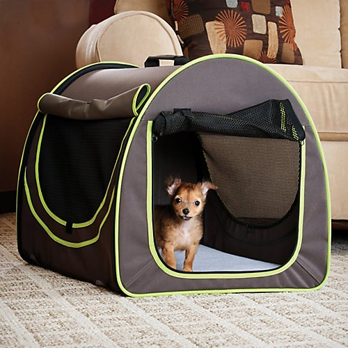 KH Mfg Classy Go Brown/Green Pet Home Small