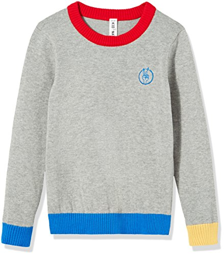 Kid Nation Kids Sweater Pullover Crew Neck Long Sleeve with Star and Flash Cotton Knit Sweater for Boys or Girls