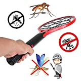 Shoppy Star Electronic Mosquito Swatter Dry Cell Power Energy Saving Mosquito Killer Bat Plastic Hand Racket Electric Swatter For Home Use