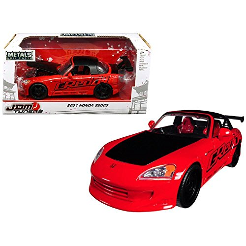 Jada 98686 2001 Honda S2000 Red JDM Tuners 1/24 Diecast Model Car