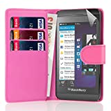 32nd Book wallet PU leather case cover for Blackberry Z10 - Hot Pink