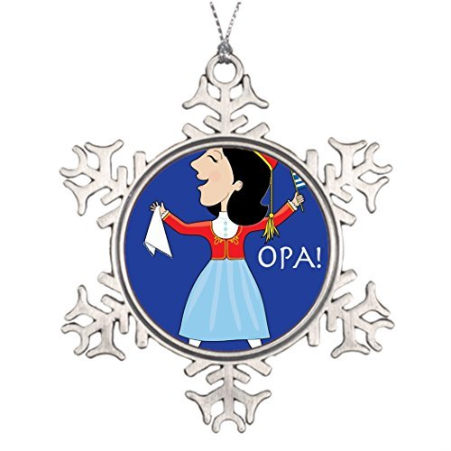 Chinese Dancer Costume (Christmas Snowflake Ornaments National Personalised Christmas Tree Decoration Star Snowflake Ornaments Dancer Greece Costume)