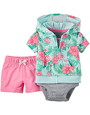 Cardigan Sets, Pink, New Born