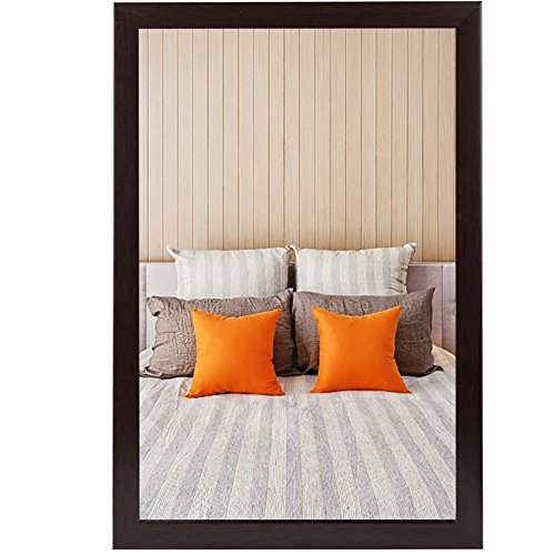GUOWEI Mirror Wall-mounted Bathroom Makeup Dressing Plastic Framed Rectangle Modern 3 Colors 4 Size (Color : A, Size : 50X70CM) -