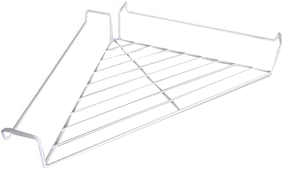 Vipe Metal Hanging Office Cubicle Corner Shelf Floating Cubicle Wall Organizer Display Rack (White)