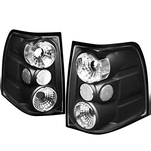 For 2003-2006 Ford Expedition Pair Black Housing Altezza Style Tail Light Brake/Parking Lamps