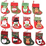 Christmas tree decoration set of 12 Christmas mini cute little socks Christmas stockings