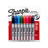 Sharpie Marker Permanent, Brush Tip Permanent Marker, 8-Carded, Assorted Fashion Colours (1810703)