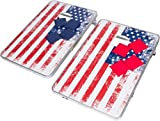 Trademark Innovations 3' Corn Hole & Bean Bag Toss Set - Lightweight & Portable Aluminum - (American Flag, Without Case)