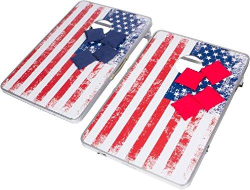 Trademark Innovations 3' Corn Hole & Bean Bag Toss Set - Lightweight & Portable Aluminum - (American Flag, Without Case) by Trademark Innovations