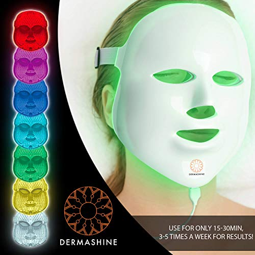 Dermashine Pro 7 Color LED Face Mask | Photon Red Light Therapy For Healthy Skin Rejuvenation | Collagen, Anti Aging, Wrinkles, Scarring | Korean Skin Care, Facial Skin Care Mask by Dermashine (Image #4)