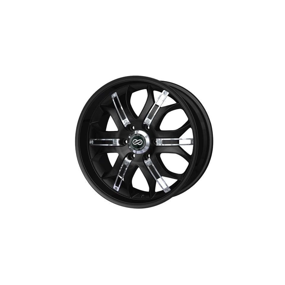 20x9.5 Enkei GRAB6 (Black w/ Chrome Trim) Wheels/Rims 6x139.7 (453 295 8410BK)