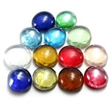"""10PCS:14mm(4/7"""") Gorgeous Flat Glass Marbles Beads Balls For Fish Tank Decor Landscaping Multi-Color Choice+Free Shipping"""