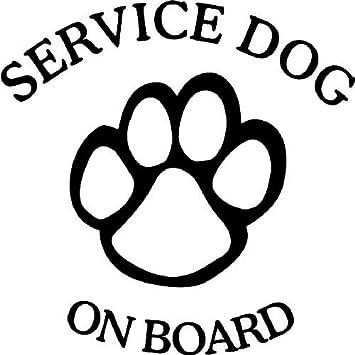 Amazon Com Service Dog On Board Decal