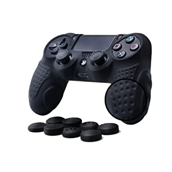 CHINFAI PS4 Controller DualShock 4 Skin Grip Anti-Slip Silicone Cover Protector Case for Sony PS4/PS4 Slim/PS4 Pro Controller with 8 Thumb Grips ...