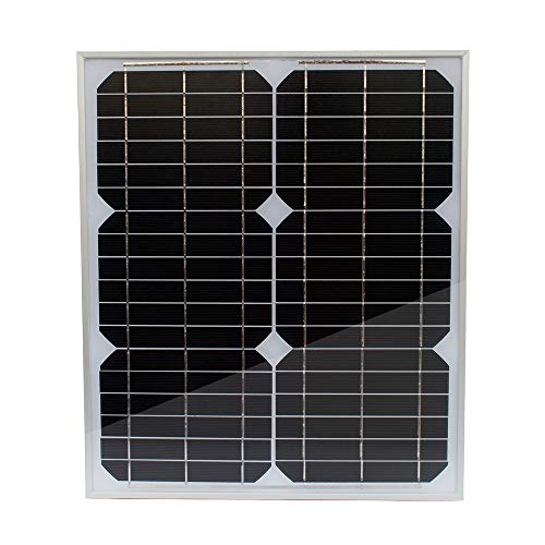 TP-solar Solar Panel 20 Watt 12 Volt Monocrystalline for Rv Marine Boat Off Grid 12V Battery Charging