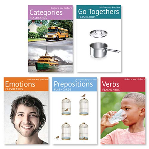 - Picture My Picture Feelings and Emotions, Prepositions, Verbs, Categories and Go Togethers Flash Card Pack | Speech Therapy Materials, ESL Materials