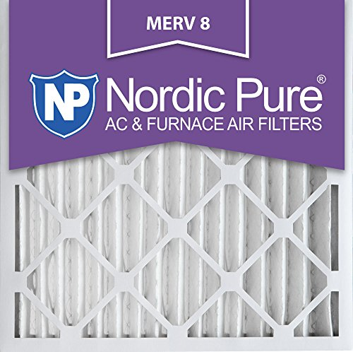 Nordic Pure 20x20x2M8-3 MERV 8 Pleated AC Furnace Air Filter, 20x20x2, Box of 3 (Furnace Filter 20x20x2 compare prices)