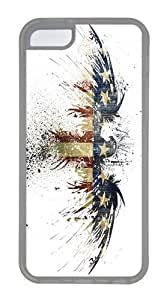 IMARTCASE iPhone 5C Case, Grunge Eagle Flag Graffiti Case for Apple iPhone 5C TPU - White