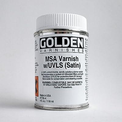 Golden MSA Satin Varnish with UVLS - 4 oz Bottle