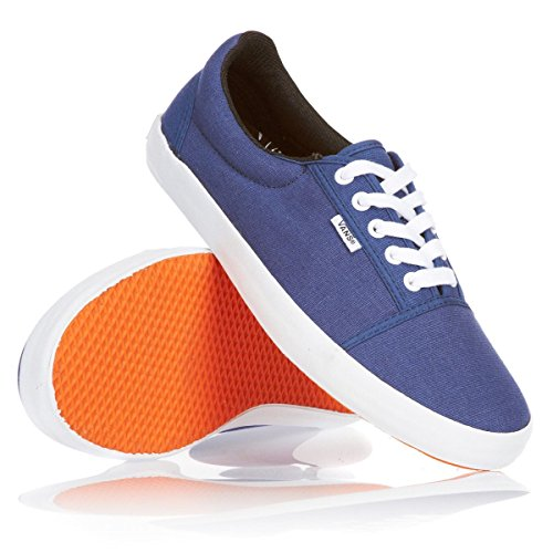 New Vans Off the Wall Fashion Sneakers Style 0kxola0 Men Size Shoes Unisex Denim Blue Canvas Kook Box