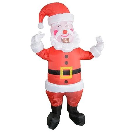 Magideal disfraz de Santa Claus Papá Noel con gran sourir ...