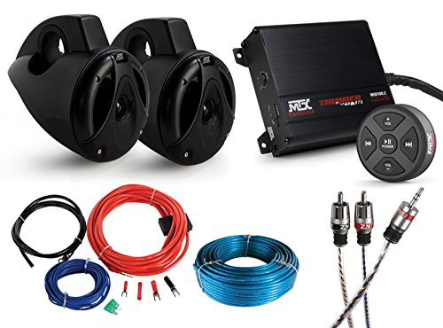 MTX MOTORSPORTS BORVKIT1+ Bluetooth Tower 2-Speaker & Amplifier Off-Road Motorsports Package