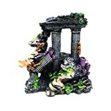 POPETPOP Practical Simulation Resin Roman Column Aquarium Decorations Fish Tank Rock Ruins Plants Decor Aquarium Decoration Ornaments
