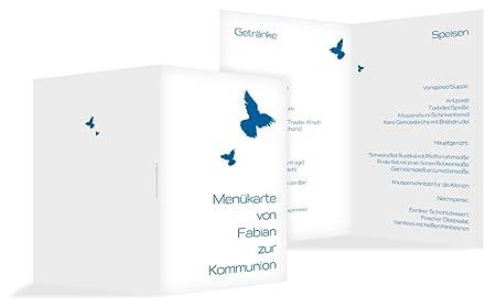 Karte Uk.Communion Menu Holder Dove Blue 1 Karte Amazon Co Uk