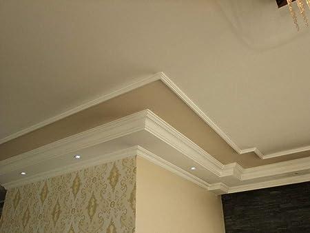 20m+4 Ecken Indirekte Beleuchtung LED Lichtprofile Wand Stuckleiste Profil BL 10