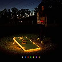 bA1 Cornhole - Edge AND Hole Cornhole Night Lights Kit - Original Ultra Bright LED (Set of 2) - SEVEN Color Options. Long Lasting (100+ Hours) Great for Tailgates Backyard/Lawn Wedding BBQ & More!