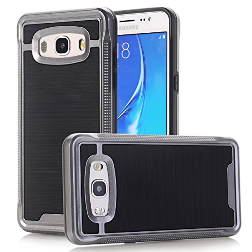 TPU/PC Shockproof Cover Case for Samsung Galaxy J510 J5 2016 (Grey) - 4