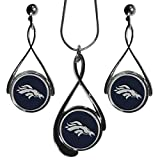 Siskiyou NFL Denver Broncos Tear Drop Necklace And Earrings Set