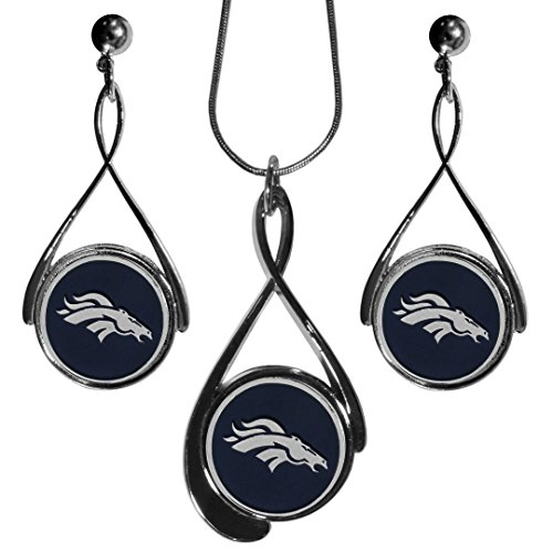 Siskiyou NFL Denver Broncos Tear Drop Necklace And Earrings Set by Siskiyou