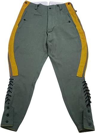 militaryharbor WW2 WWII Heer Agent Artillery Gabardine Straight - Pantalones