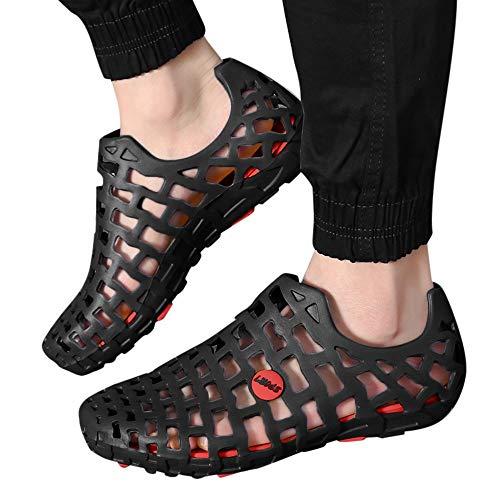 Womens Skeleton Sandals - POHOK Men Women Unisex Classic Casual Shoes Couple Beach Sandal Flip Flops Shoes(Black,41)