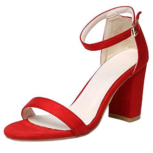 Melady Bloc Sandales Talons Red Femmes Mode rwg1qrCx