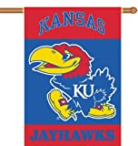 NCAA Kansas Jayhawks 2-Sided 28-by-40 inch House Banner with Pole Sleeve