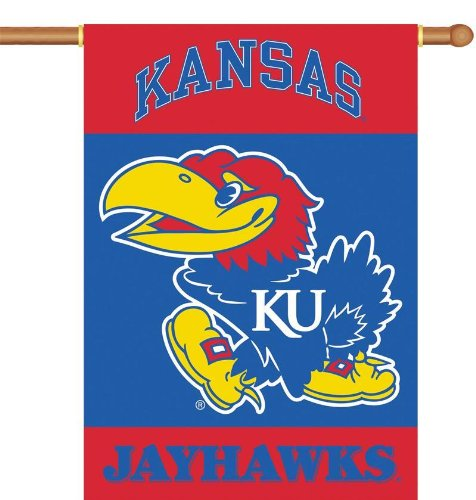 NCAA Kansas Jayhawks 2-Sided 28-by-40 inch House Banner with Pole Sleeve ()