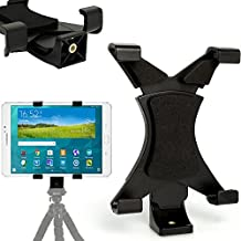 "iGadgitz Tablet Holder Mount Bracket for Tripods with ¼"" screw thread for Samsung Galaxy Tab A, E, S Range, 3 Lite, 4 7"", 4 8"", 4 10.1"", 4 Advanced, TabPro 8.4"", S (Compatibility in description)"