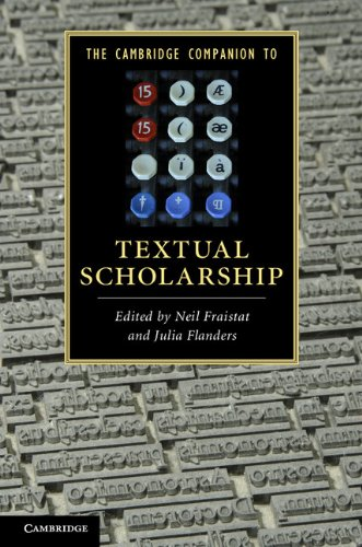 The Cambridge Companion to Textual Scholarship (Cambridge Companions to Literature) (Industries Flanders)
