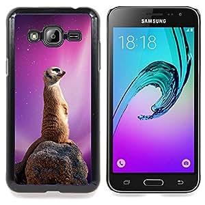 """Qstar Arte & diseño plástico duro Fundas Cover Cubre Hard Case Cover para Samsung Galaxy J3(2016) J320F J320P J320M J320Y (Espacio Galaxy Meerkat"""")"""