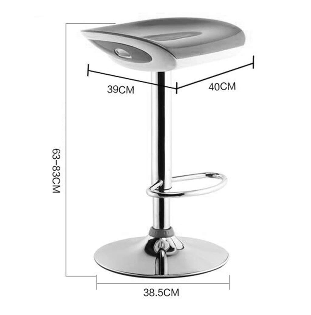 MU Moderne Simplicity Barhocker, Continental Barhocker Moderner einfacher Barhocker Lift Drehbarer Stuhl Langlebig,# 4