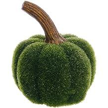"""5""""Hx4""""W Artificial Glittered Moss Pumpkin -Green (pack of 6)"""