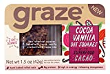 Graze Natural Cocoa Vanilla Oat Squares with Superfood Cacao, Wholegrain Rolled Oats, Soy Protein Crispies, Flaxseeds, Sunflower Seeds, Cranberries, Flapjacks, Natural Trail Mix, 1.5 Ounce Box, 9 Pack