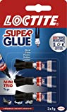 Loctite 1623820 SuperGlue Mini Trio, 1 g - Pack of 3