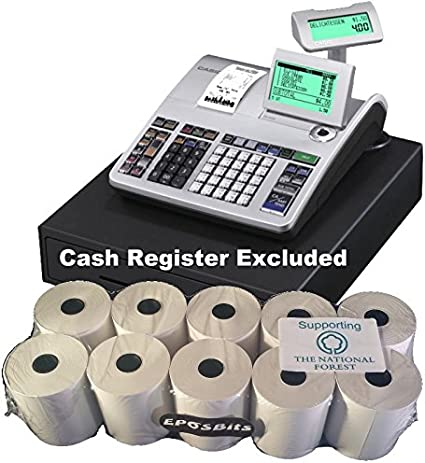 EPOSBITS® - Rollos para caja registradora Casio SE-S400 SES400 SES SE S400 S 400-10 rollos: Amazon.es: Oficina y papelería