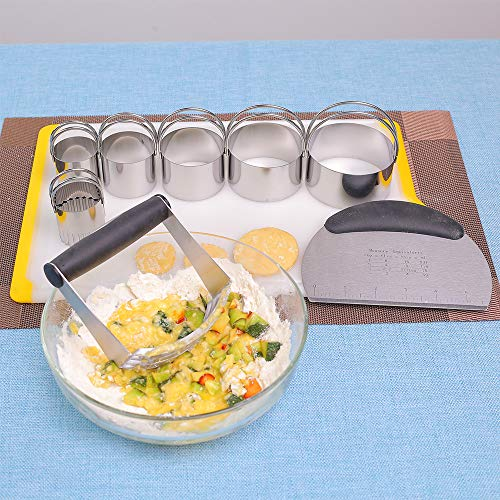 EVQ Stainless Steel Pastry Blender Dough Cutter 6 Pastry Cutter Set,Baking Dough Tools